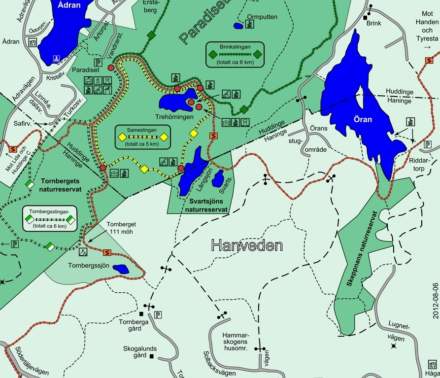 karta m tornbergsslingan